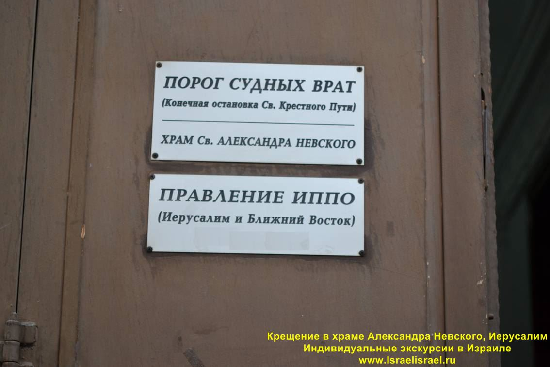 Organize baptism in the church of Nevsky