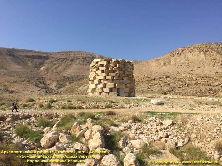 Исторический объект Отпечаток ноги долина Иордана