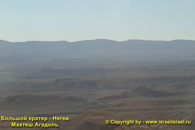 Панорама на болшой кратер