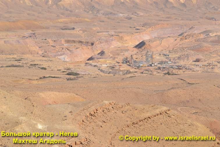 Большой кратер в Израиле
