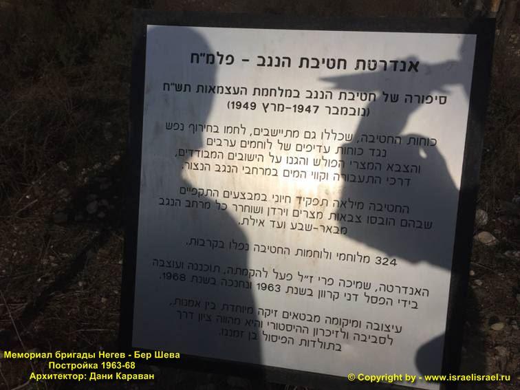 Мемориал бригаде Негев