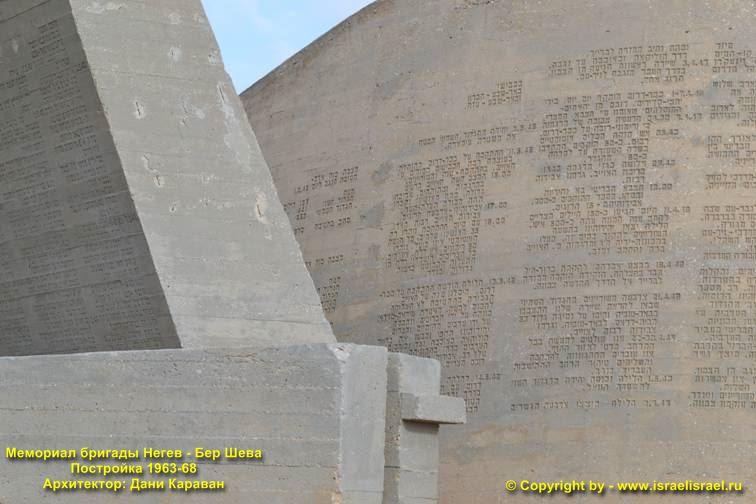Скульптор Мемориал бригады Негев