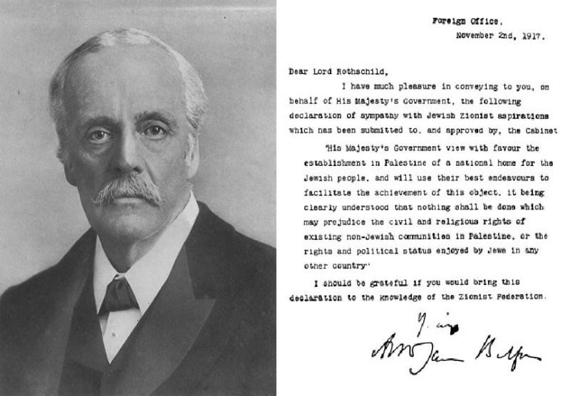 Декларация Бальфура Британский Мандат