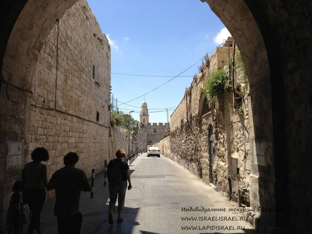 Map of the Armenian quarter of Jerusalem