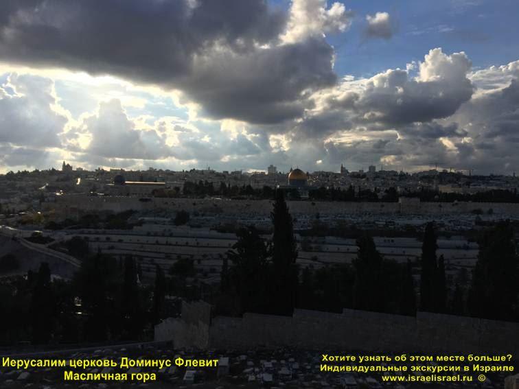 Доминус Флевит Иерусалим Масличная гора частный гид в Иерусалиме