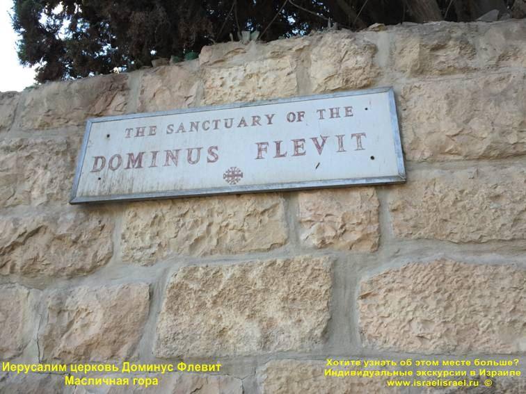 Доминус Флевит где молился Иисус