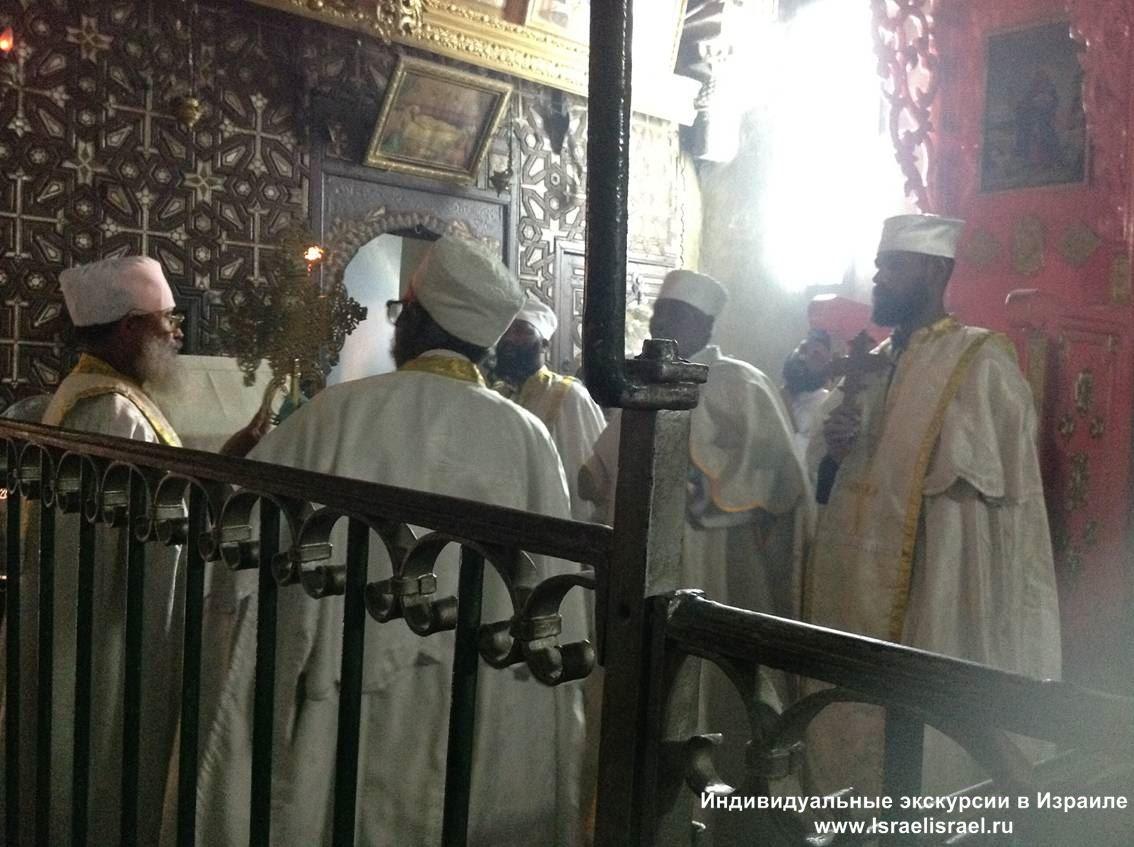 Эфиопская христианская церковь Дир Султан частные экскурсии в Иерусалиме