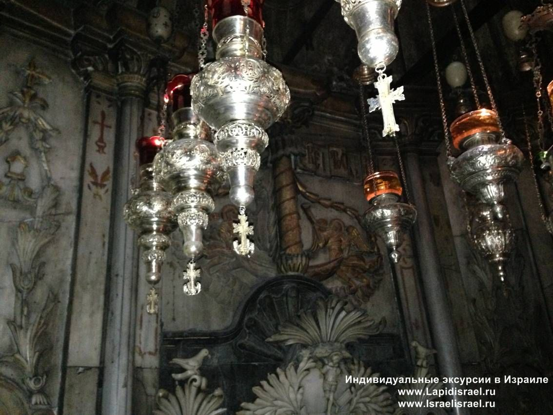Храм гроба господня предел ангеда кувуклия Иерусалим гид в Израиле