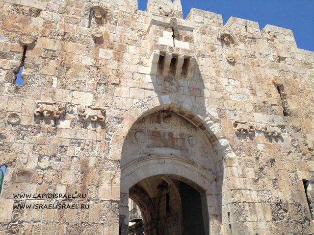 Львиные ворота в Иерусалиме.