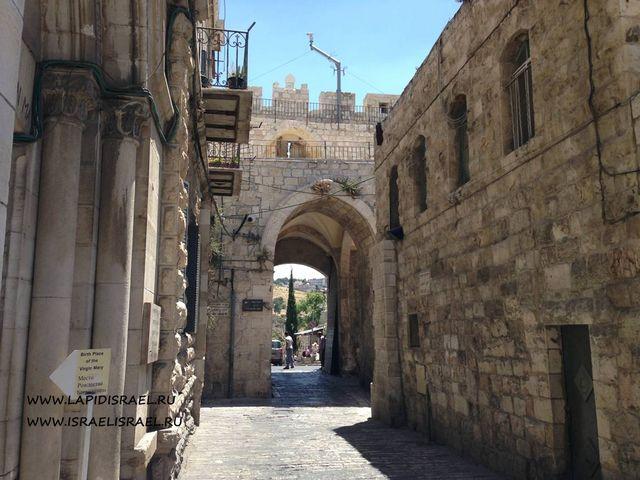 достопримечательности львиные ворота в Иерусалиме