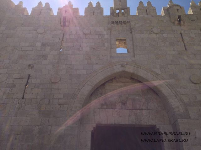 Открытые Дамасские ворота Иерусалима