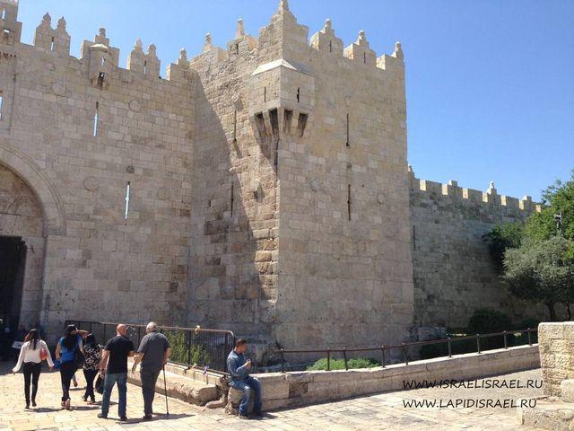 Дамасские ворота Иерусалим на карте