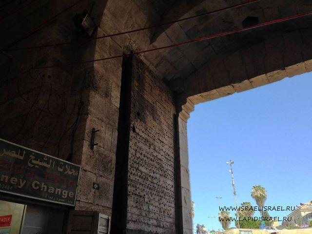 Закрытые Дамасские ворота Иерусалима