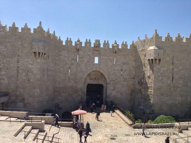 Реставрация Дамасские ворота Иерусалима