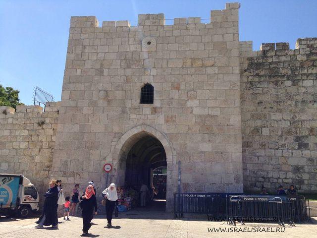 Цветочные ворота Иерусалима или ворота Ирода Индивидуальные экскурсии в Израиле