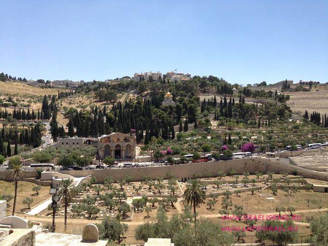 Панорама от золотых ворот Иерусалим