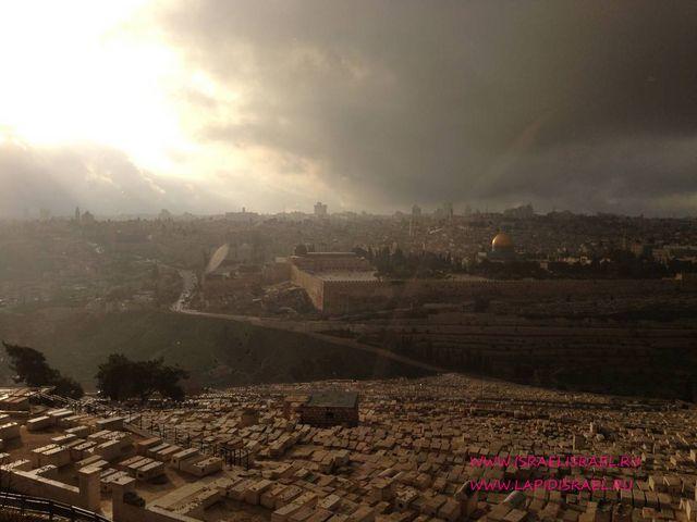 Панорама на золотые ворота иерусалим