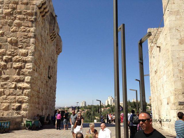 яффские ворота на карте иерусалима