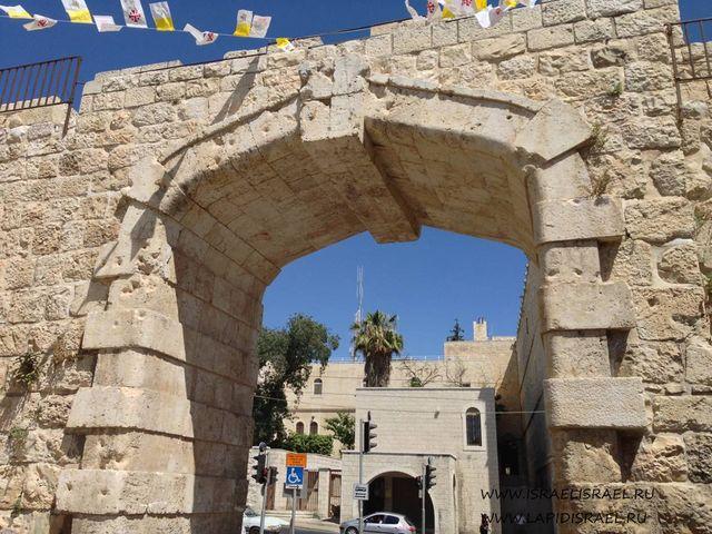 Карта новые ворота Иерусалим