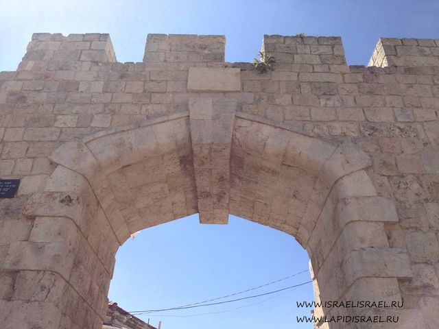 19 век новые ворота в Иерусалиме