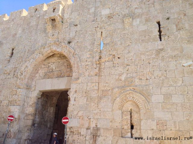 Достопремечательости ворота Сион Иерусалим