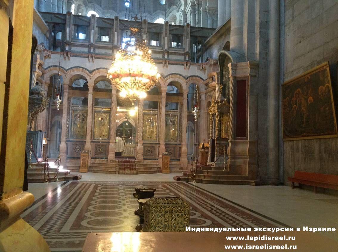 Пуп земли в храме воскресения
