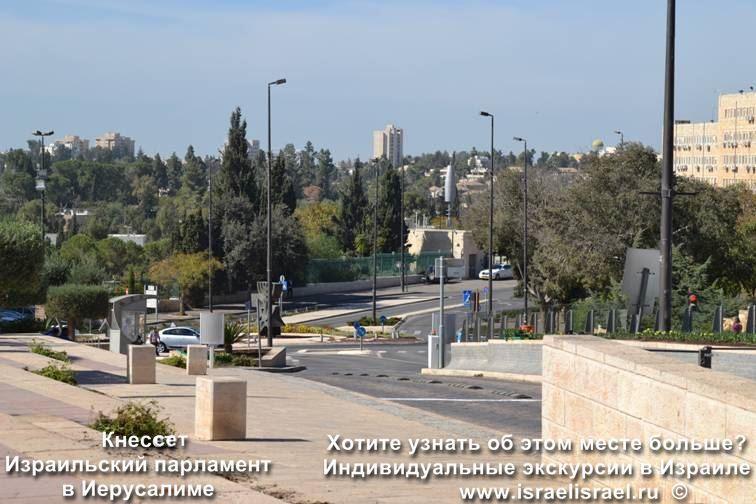Кнессет на карте Иерусалима