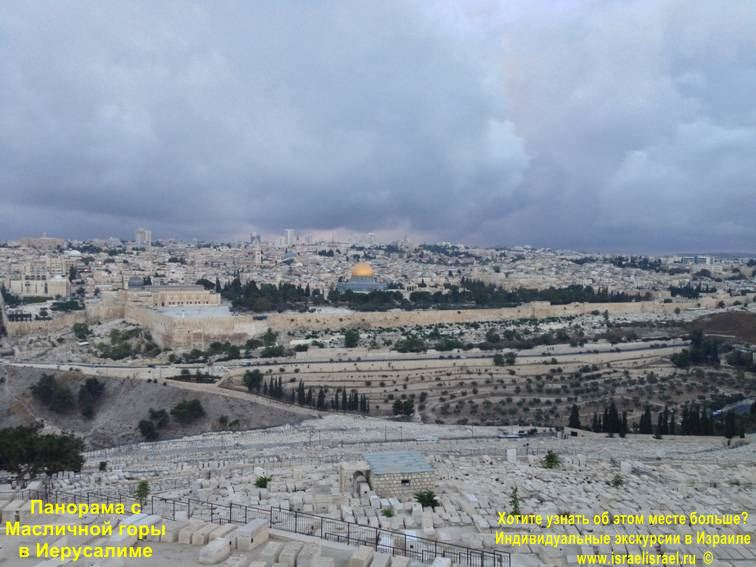Mount of Olives on the map