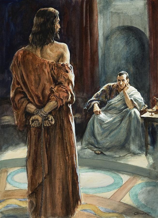 Беседа Иисуса с Пилатом