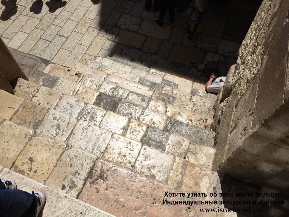 The removal of the holy garments of Jesus in Jerusalem