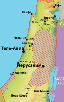палестинская автономия карта