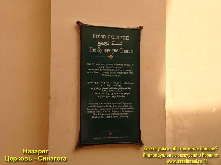Иисус Церковь Синагога Назарет