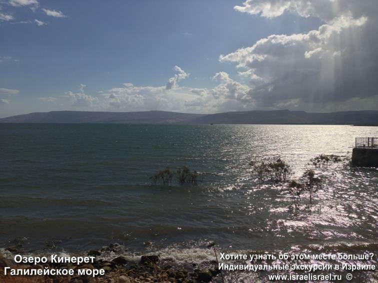Температура воды озеро Кинерет летом