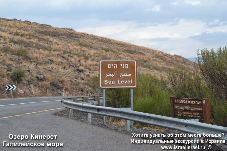 Пресное озеро Кинерет в Израиле