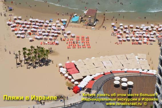 сколько стоит шезлонг на пляже Израиля