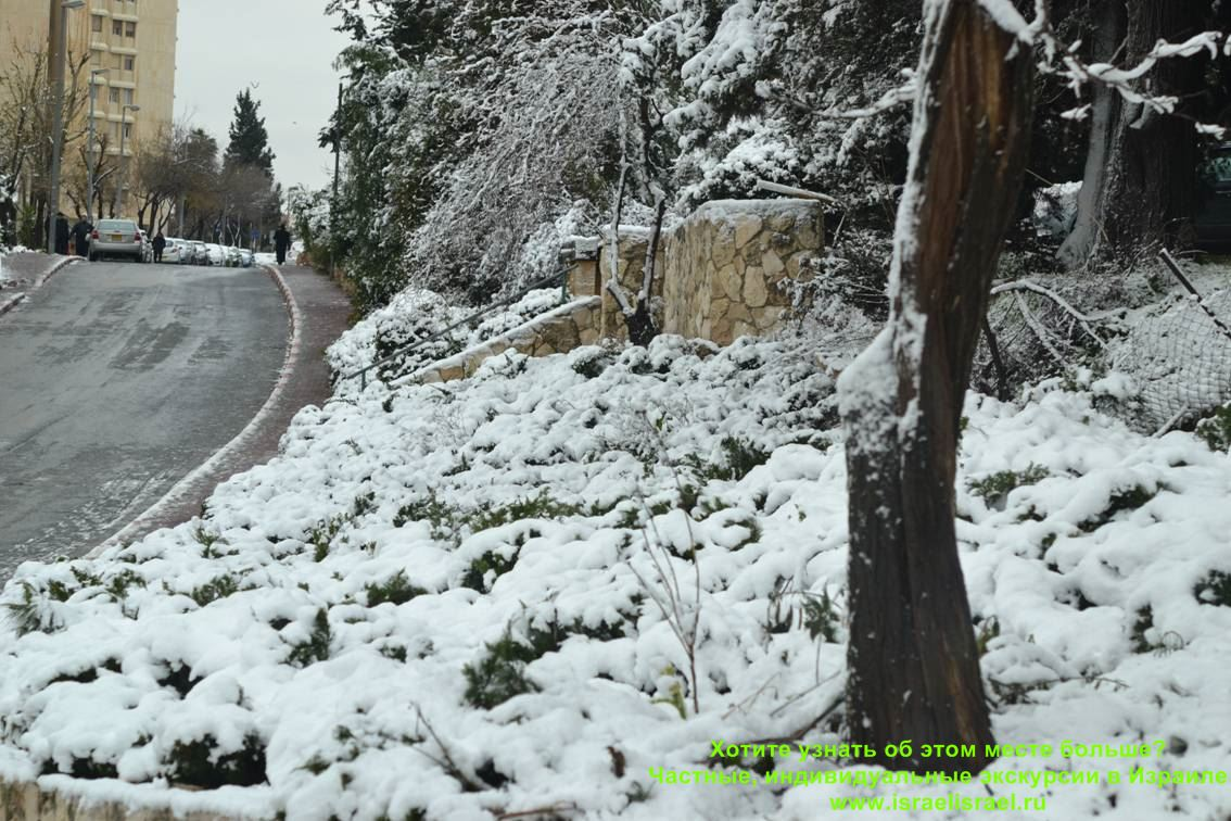 фото израиля зимой