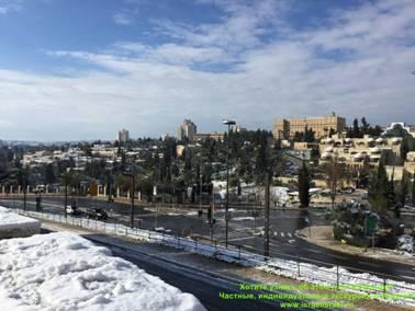 гололед в Иерусалиме